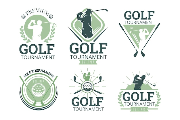 Vintage golf logo collectie