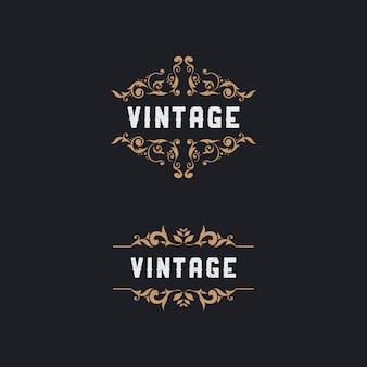 Vintage gouden abstract bloemframe
