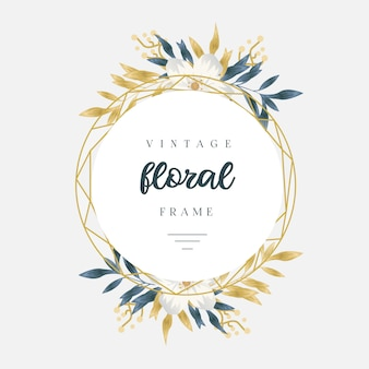 Vintage gouden bloemenframe