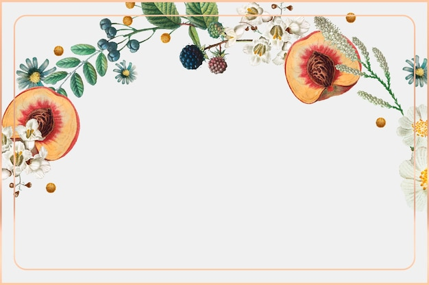 Vintage gouden frame vector botanische background