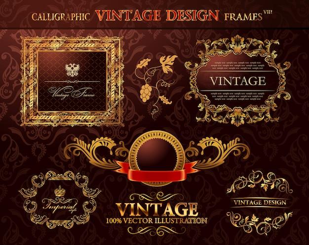 Vintage gouden lijsten