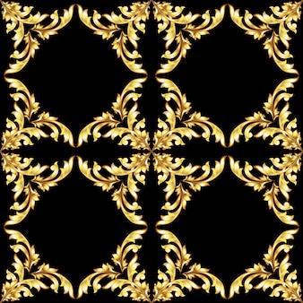 Vintage gouden naadloos patroon