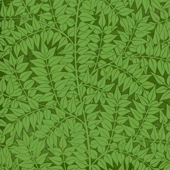 Vintage groene laurier takken patroon vector