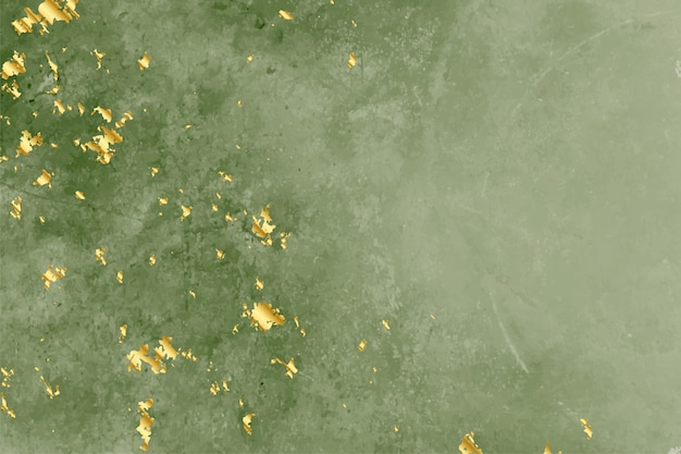 Vintage groene textuur met gouden folie achtergrond