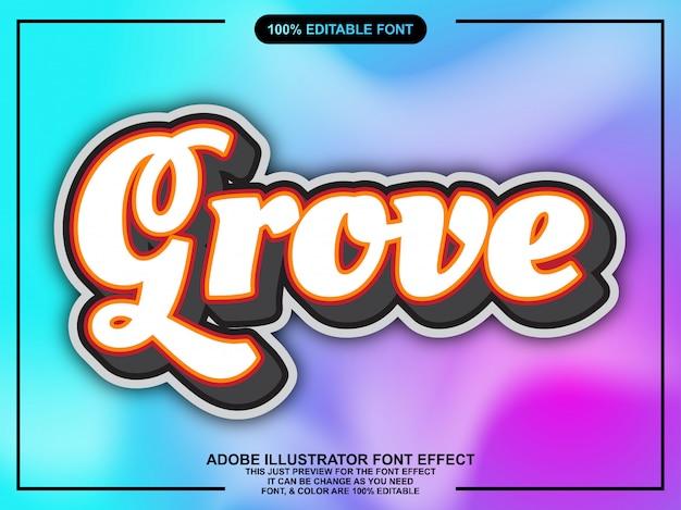 Vintage grove script lettertype effect