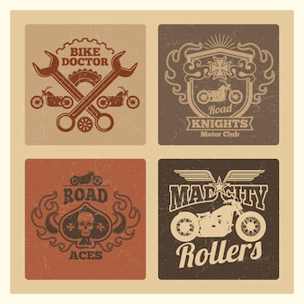 Vintage grunge motorfiets label
