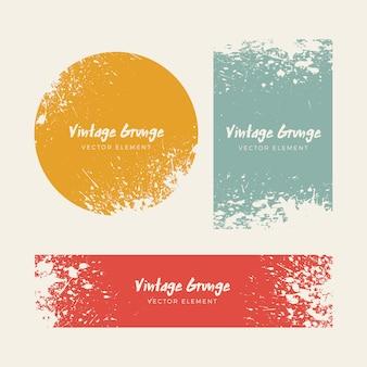 Vintage Grunge verontruste achtergronden collectie