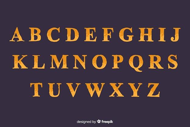 Vintage halloween alfabet