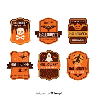Vintage halloween labels-collectie