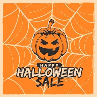 Vintage halloween verkoop concept