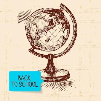 Vintage hand getekend terug naar school illustratie