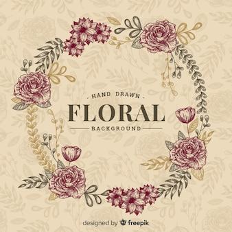 Vintage hand getrokken floral achtergrond