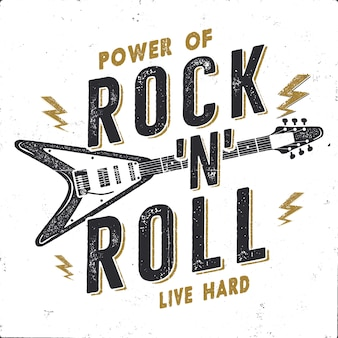Vintage handgetekende rock n roll poster