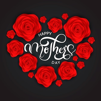 Vintage happy mothers's day achtergrond