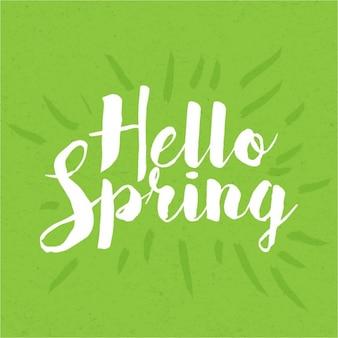 Vintage hello voorjaar belettering