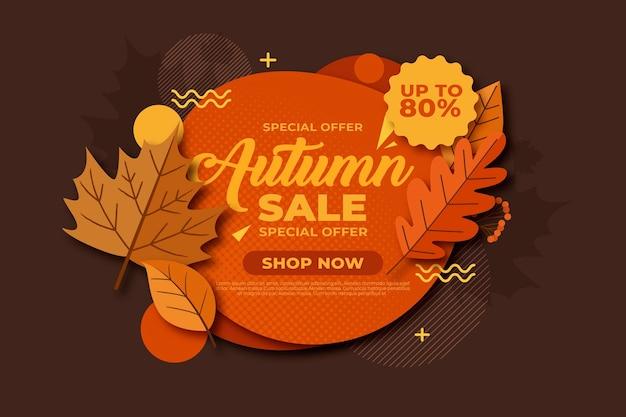 Vintage herfst verkoop concept