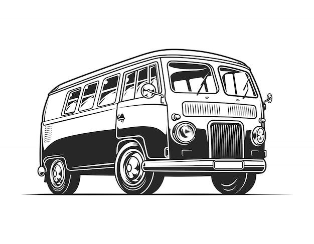 Vintage hippie busje