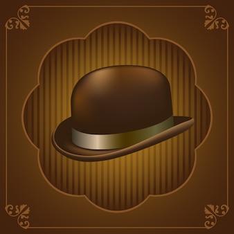 Vintage hoed illustratie