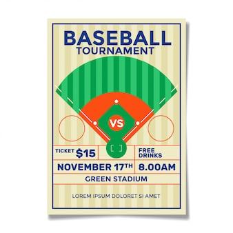 Vintage honkbal sjabloon folder