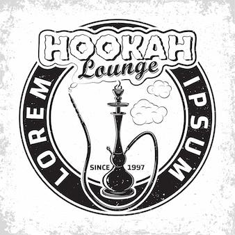 Vintage hookah lounge logo ontwerp