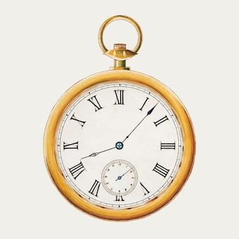 Vintage horloge illustratie vector, geremixt van het kunstwerk door harry g. aberdeen
