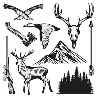 Vintage hunting elements-collectie