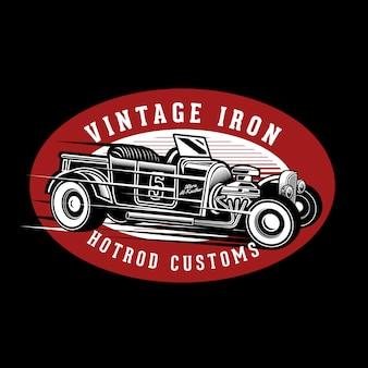 Vintage ijzeren hotrods