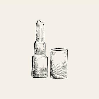 Vintage illustratie van een lippenstift