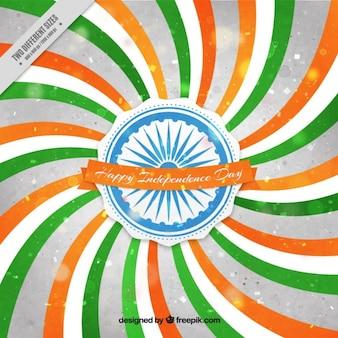 Vintage independende dag van india achtergrond met strepen