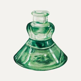 Vintage inktpot illustratie vector, geremixt van het kunstwerk door john tarantino