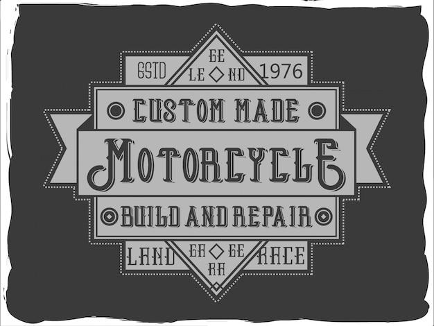 Vintage insignia-ontwerp met een belettering samenstelling