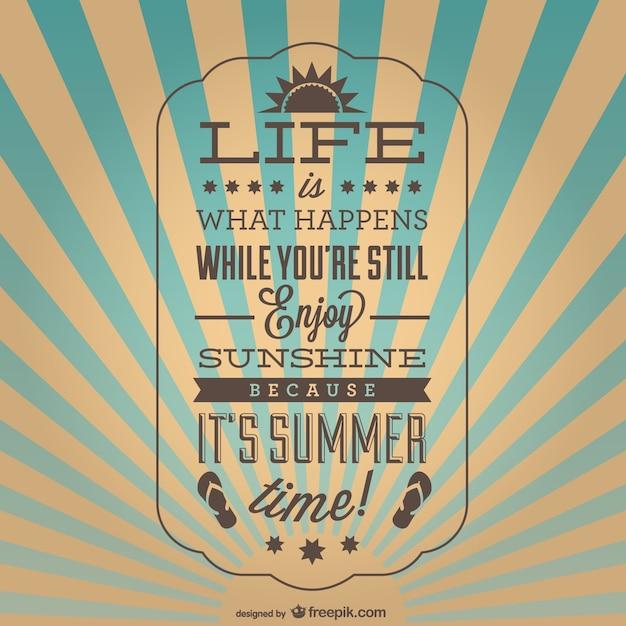 Vintage inspirerende zomer poster