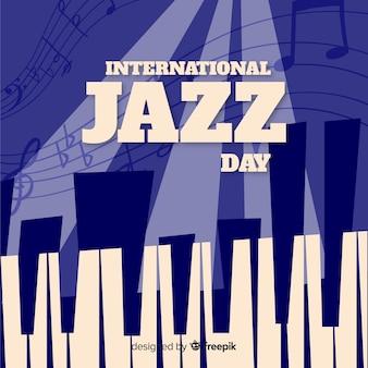 Vintage internationale jazz dag achtergrond