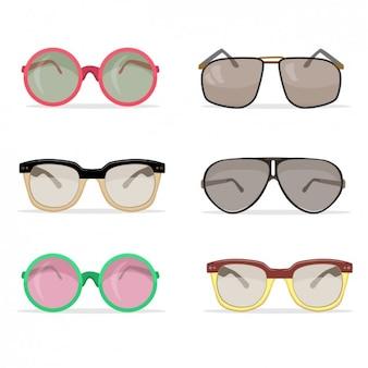 Vintage inzameling van de zonnebril
