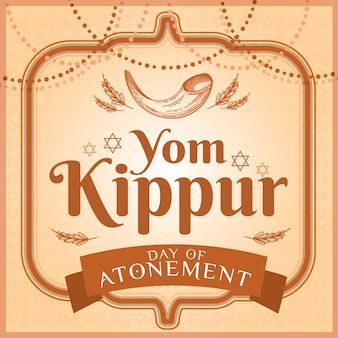 Vintage jom kipoer concept