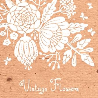 Vintage kaart met een bloeiende tak.