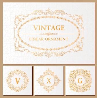 Vintage kalligrafische frames