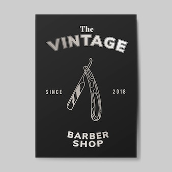 Vintage kapper winkel illustratie