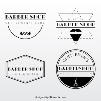 Vintage kapperszaak logo templates