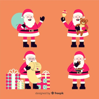 Vintage karaktercollectie van de kerstman