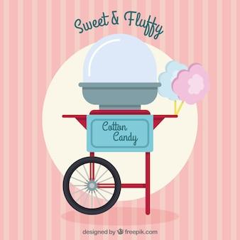 Vintage katoen candy cart met vlak ontwerp