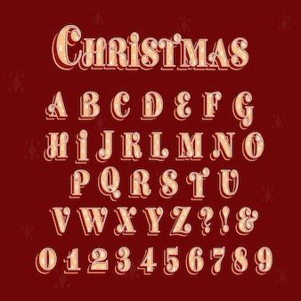 Vintage kerst alfabet pack