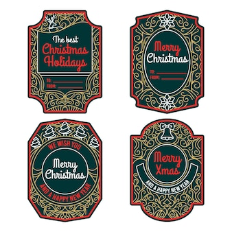 Vintage kerst badge collectie