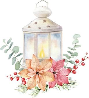 Vintage kerst bloemen ornament