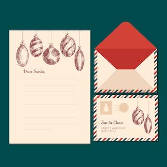 Vintage kerst briefpapier sjabloon