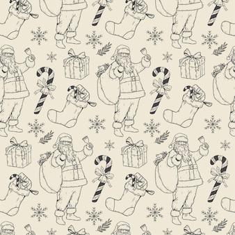 Vintage kerst patroon