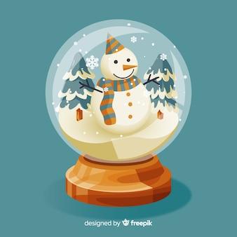 Vintage kerst sneeuwbal wereld
