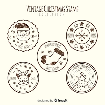 Vintage kerst stempel collectie