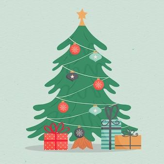 Vintage kerstboom concept