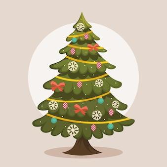 Vintage kerstboom sjabloon